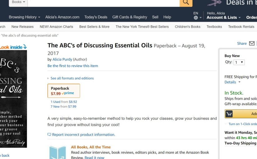 The ABC's of Discussing Essential Oils HITS THE SHELVES TODAY!